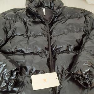 Fabletics Shiny Black Puffer Jacket